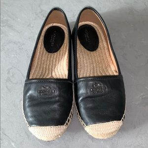 COACH Rhodelle Leather Espadrilles